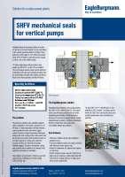 Solution: Mechanical seal SHFV for vertical pumps